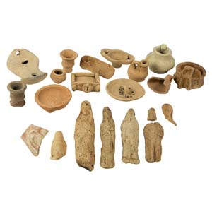A collection of votive and miniaturist items ...