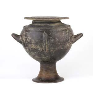 Etruscan Impasto olla Mid 7th century BC; ...
