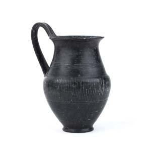 Etruscan Bucchero jug Etruria, end of 7th ...