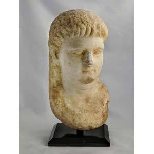 Greek oriental male head ca. 3rd century BC; ...