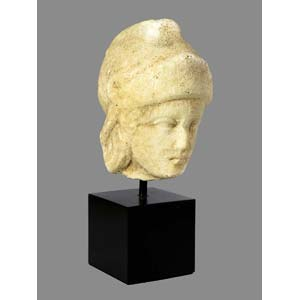 Greco-Roman male helmeted head ca. 2nd ...