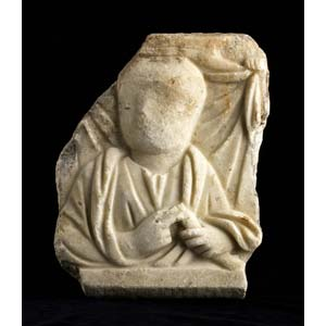 An uncompleted Roman funerary relief 1st – ...