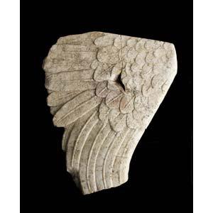 Roman marble sphinx wing 1st century AD; ...