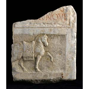 Roman funerary slab with horse 1st – 2nd ...