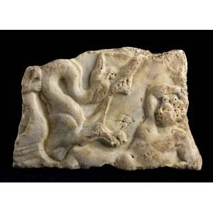 Relief with Jonah and the whale 4th century ...