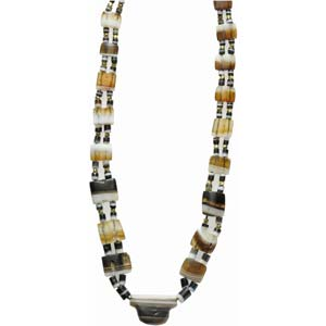 A western asiatic banded agate bead ...