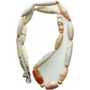 A western asiatic carnelian and banded agate ...