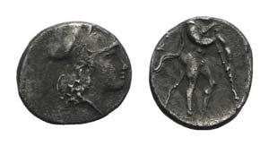Bruttium, Kroton, c. 300-250 BC. AR Triobol ...