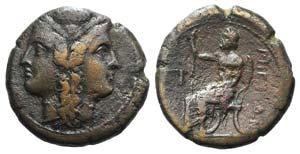 Bruttium, Rhegion, c. 215-150 BC. Æ ...