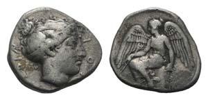 Bruttium, Terina, c. 425-420 BC. AR Stater ...