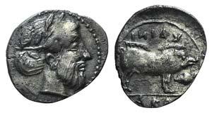 Sicily, Abakainon, c. 420-400 BC. AR Litra ...