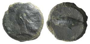 Sicily, Solus, c. 4th-3rd century BC. Æ ...