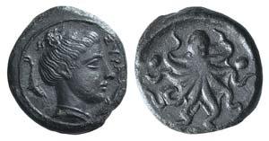 Sicily, Syracuse, c. 435-415 BC. Æ Tetras ...