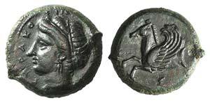Sicily, Syracuse, 344-334 BC. Æ Hemilitron ...
