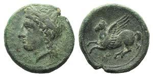 Sicily, Syracuse, 344-317 BC. Æ (18mm, ...