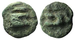 Anonymous, Rome, c. 265 BC. Cast Æ Uncia ...