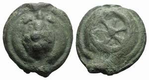 Anonymous, Rome, c. 230 BC. Cast Æ Sextans ...