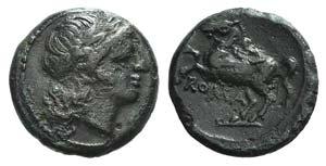 Anonymous, Rome, c. 235 BC. Æ (14mm, 3.05g, ...