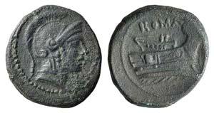 Anonymous, Rome, 217-215 BC. Æ Quartuncia ...