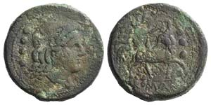 Anonymous, Rome, 217-215 BC. Æ Triens ...