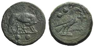 Anonymous, Rome, c. 217-215 BC. Æ Sextans ...