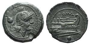 Anonymous, Rome, c. 215-212 BC. Æ Uncia ...