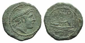 Anonymous, Rome, 215-212 BC. Æ Semuncia ...