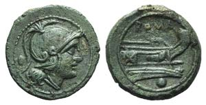 Anonymous, Rome, c. after 211 BC. Æ Uncia ...