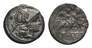 Crescent series, Rome, 207 BC. AR Denarius ...