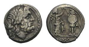 Anonymous, Sicily, 211-208 BC. AR ...