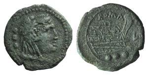 Anonymous, Luceria, c. 206-195 BC. Æ ...