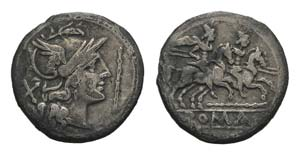 Staff series, Rome, 206-195 BC. AR Denarius ...