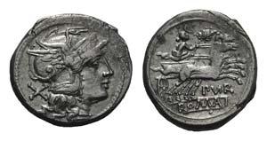Furius Purpurio, Rome, 169-158 BC. AR ...