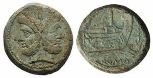 Anchor series, Rome, 169-158 BC. Æ As ...
