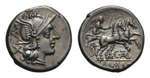 C. Thalna, Rome, 154 BC. AR Denarius ...