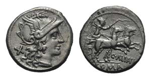 C. Maianius, Rome, 153 BC. AR Denarius ...