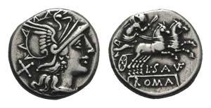 L. Saufeius, Rome, 152 BC. AR Denarius ...