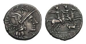 C. Antesti, Rome, 146 BC. AR Denarius (18mm, ...