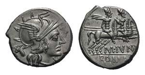 C. Junius C.f., Rome, 145 BC. AR Denarius ...