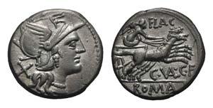 C. Valerius C.f. Flaccus, Rome, 140 BC. AR ...