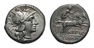 A. Spurilius, Rome, 139 BC. AR Denarius ...