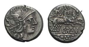 C. Renius, Rome, 138 BC. AR Denarius ...