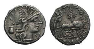 Sex. Pompeius Fostlus, Rome, 137 BC. AR ...