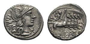 L. Antestius Gragulus, Rome, 136 BC. AR ...