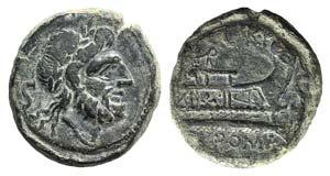 C. Curiatius f. Trigeminus, Rome, 135 BC. Æ ...
