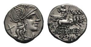 L. Trebanius, Rome, 135 BC. AR Denarius ...