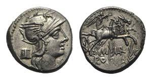M. Marcius Mn.f., Rome, 134 BC. AR Denarius ...