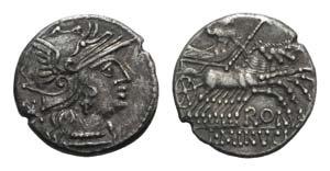 L. Minucius, Rome, 133 BC. AR Denarius ...