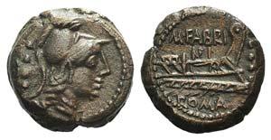 M. Fabrinius, Rome, 132 BC. Æ Triens (20mm, ...