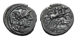 Cn. Domitius Ahenobarbus, Rome, 128 BC. AR ...